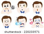 character face  | Shutterstock .eps vector #220233571