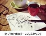 some concepts write down on... | Shutterstock . vector #220239109