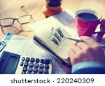 businessman working on project... | Shutterstock . vector #220240309