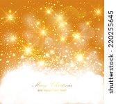 golden sparkling background... | Shutterstock . vector #220255645
