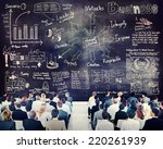 diverse business people in a... | Shutterstock . vector #220261939