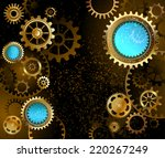 black steampunk background with ...   Shutterstock .eps vector #220267249