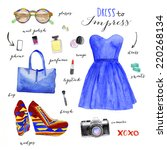 fashion illustration clothing... | Shutterstock . vector #220268134