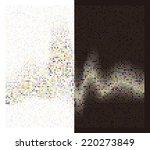 round waveform background.... | Shutterstock .eps vector #220273849
