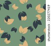 seamless background  leaf | Shutterstock .eps vector #220277419