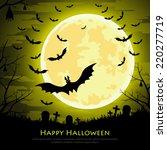 happy halloween background with ... | Shutterstock .eps vector #220277719