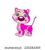 insane leopard vector... | Shutterstock .eps vector #220283305