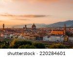 golden sunset over palazzo... | Shutterstock . vector #220284601