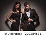 portrait of a elegant couple... | Shutterstock . vector #220284631