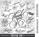 set of custom thank you hand... | Shutterstock .eps vector #220292581