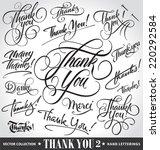 set of custom thank you hand... | Shutterstock .eps vector #220292584