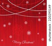 elegant christmas card with... | Shutterstock .eps vector #220295149