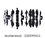 group of business people in the ... | Shutterstock . vector #220295311