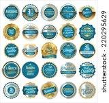 premium  quality retro vintage...   Shutterstock .eps vector #220295629