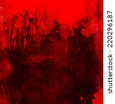 Red Grunge Background With...