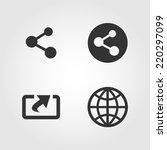 share icons set  flat design   Shutterstock .eps vector #220297099