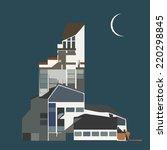 illustration of modern business ... | Shutterstock .eps vector #220298845