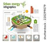 urban energy  infographics... | Shutterstock .eps vector #220299079