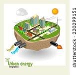 urban energy engineering... | Shutterstock .eps vector #220299151