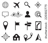 map and location icons set on... | Shutterstock .eps vector #220302775