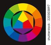 Color Wheel On Black Background ...