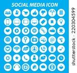 social media icons vector   Shutterstock .eps vector #220304599