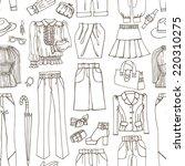 outline fashionable female... | Shutterstock .eps vector #220310275
