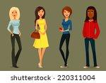 cute cartoon illustration of... | Shutterstock .eps vector #220311004