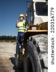 bulldozer operator | Shutterstock . vector #220316779
