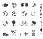 sport and equipment icons  mono ... | Shutterstock .eps vector #220320889
