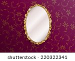 gold ornate vintage mirror  ... | Shutterstock .eps vector #220322341