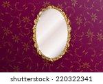 gold ornate vintage mirror  ...   Shutterstock .eps vector #220322341