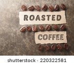 coffee crop beans with 100... | Shutterstock . vector #220322581