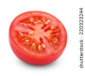 half of tomato isolated on... | Shutterstock . vector #220323244