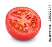 half of tomato isolated on... | Shutterstock . vector #220323244