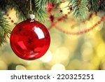 closeup of christmas ball from... | Shutterstock . vector #220325251