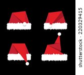 Santa Hat Flat Icon. Vector...