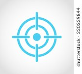 target icon isolated on white... | Shutterstock .eps vector #220329844