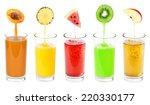 glass of fresh fruit juices | Shutterstock . vector #220330177