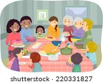illustration featuring a group... | Shutterstock .eps vector #220331827