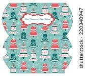 vector template of christmas... | Shutterstock .eps vector #220340947