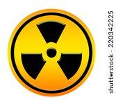 radioactivity yellow circle... | Shutterstock . vector #220342225