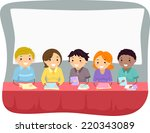illustration featuring a group... | Shutterstock .eps vector #220343089