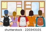 illustration featuring a group... | Shutterstock .eps vector #220343101