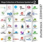 mega collection of vector logo...   Shutterstock .eps vector #220344187