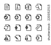 file document icon set  vector...