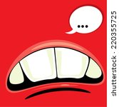 opened cartoon mouths.  | Shutterstock .eps vector #220355725