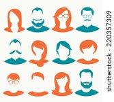 people icons  avatars  flat...
