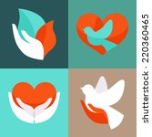 vector set with signs of love... | Shutterstock .eps vector #220360465