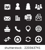 contact icons | Shutterstock .eps vector #220363741